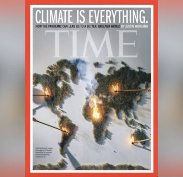 'We watched it burn down in 2 mins': Malaysian artist creates fiery artwork for Time's cover on climate change