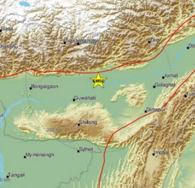 Magnitude 6.2 earthquake strikes Assam, India
