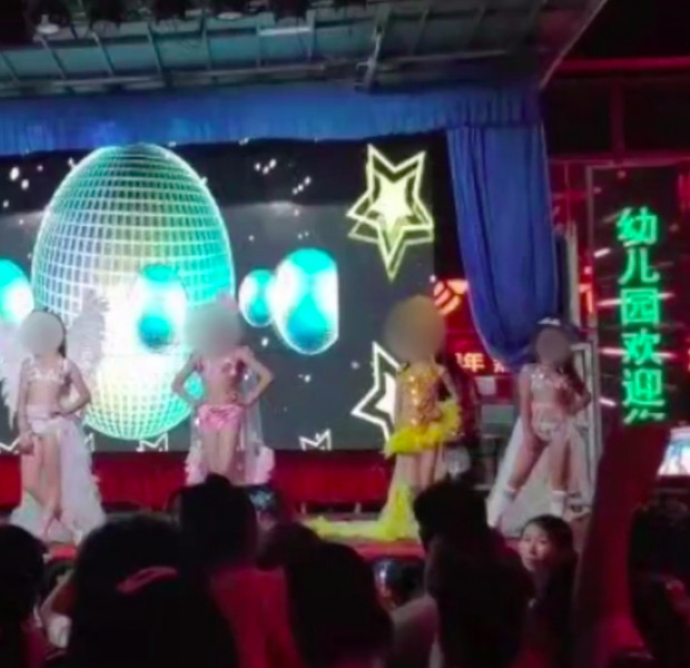 Parents at Chinese kindergarten shocked by girls' performance in bikinis