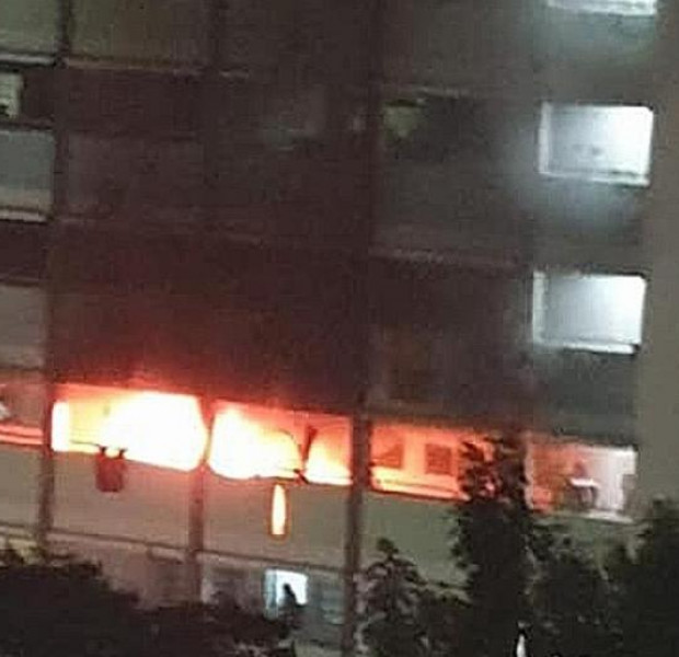 Woman stranded on kitchen ledge after fire broke out in Jurong West flat
