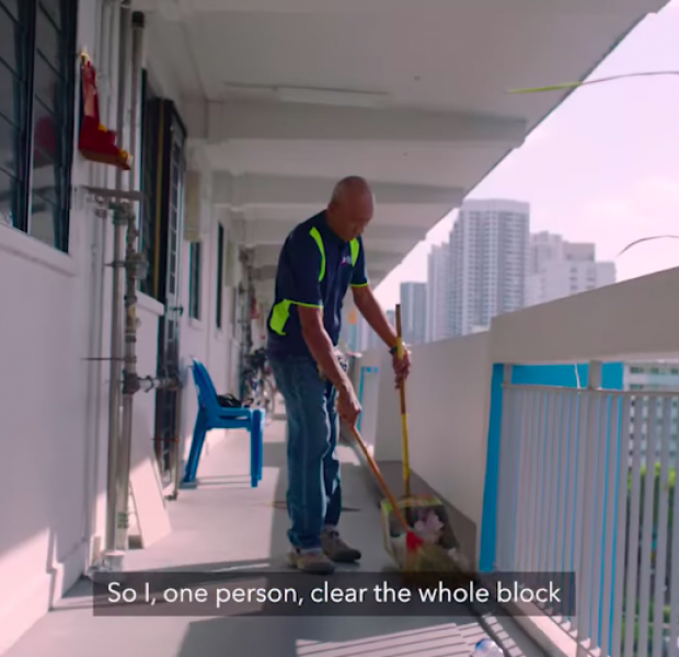 HDB cleaner uncle discloses Singaporeans' common littering habits