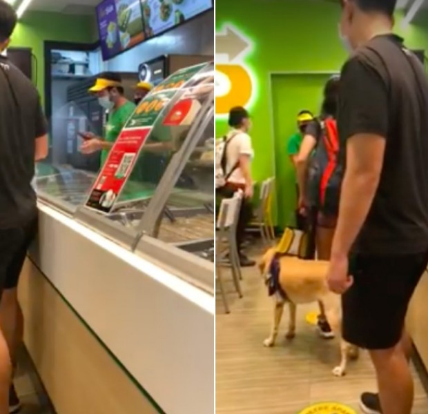 Singapore swimmer with guide dog turned away by Subway staff at Kallang Wave Mall