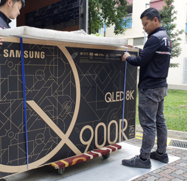 It's easy to fit a 75-inch TV in your HDB flat