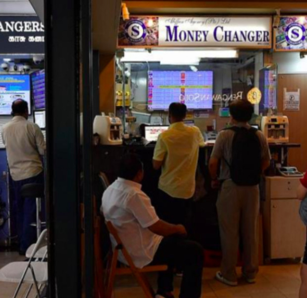 Business plunges for money changers here