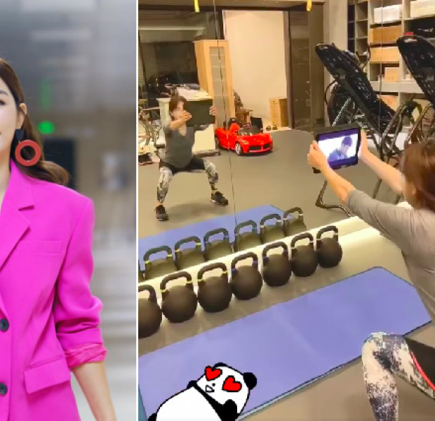 Ella Chen shows off unorthodox workout routine while watching K-drama Crash Landing On You