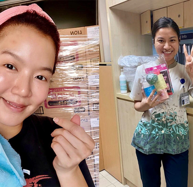 Rui En, fan club, celeb friends gift over 2,000 care packages to local frontline medical staff, cleaners, drivers