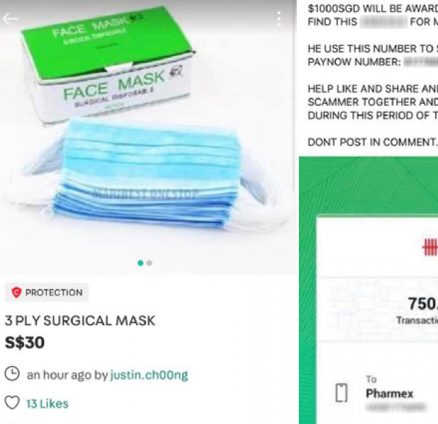 Carousell user loses $750 to face mask scammer, offers $3,000 to anyone who can track him down