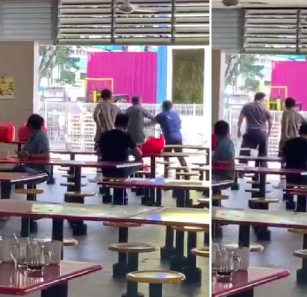 Man in Jurong West goes on rampage against cleaner auntie for clearing his coffee cup