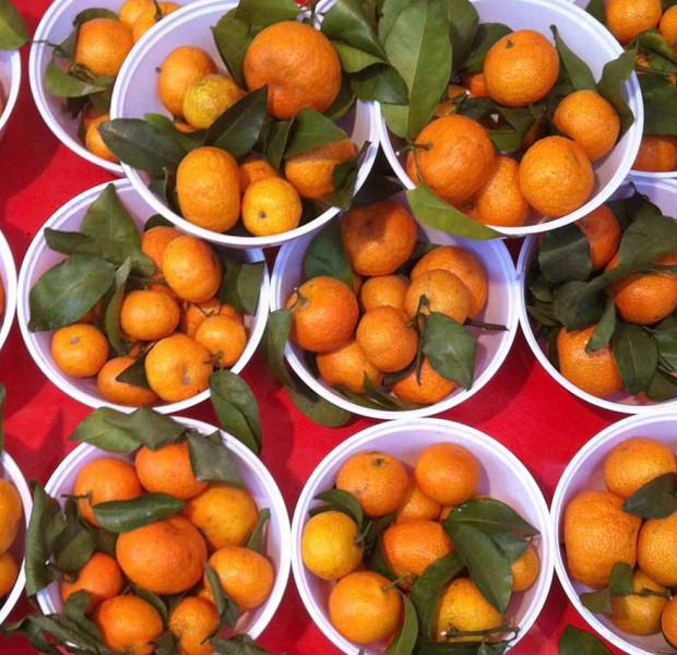 How to pick mandarin oranges