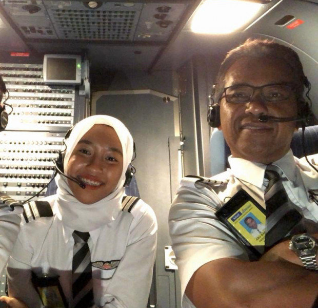 This made my day: Veteran Malaysian pilot quits to fly with daughters