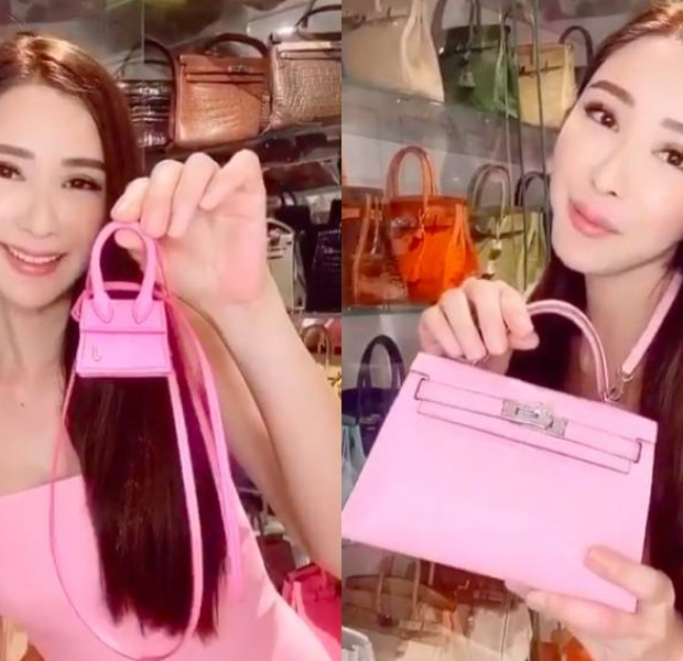Jamie Chua introduces her collection of luxury pink bags, including a 'useless' one that costs $12,500