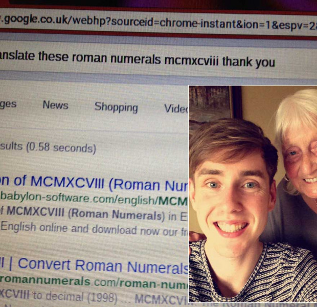Please translate this, thank you: British grandma's polite search request charms Google and rest of Internet