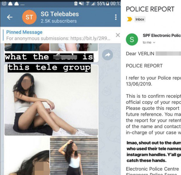 Woman files police report against Telegram channel 'perverts' who slid into her DM