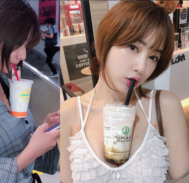 Hands-free bubble tea: Viral Japanese trend involves using your chest as a drink holder