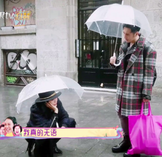 Christy Chung cries in the rain after quarrel with husband