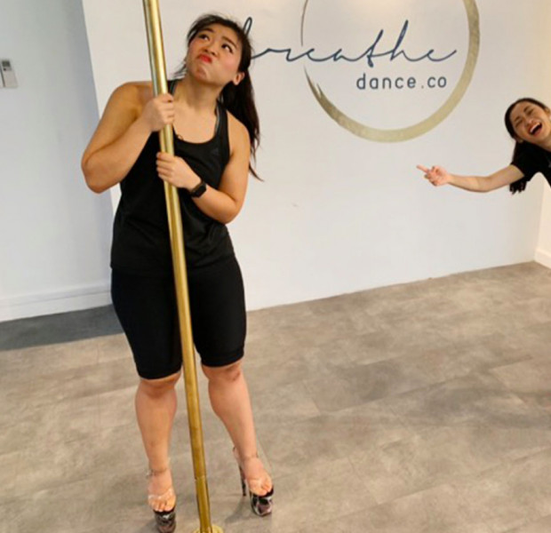 #Joeyjios: I tried pole-dancing for the first time - and completely failed at being sexy
