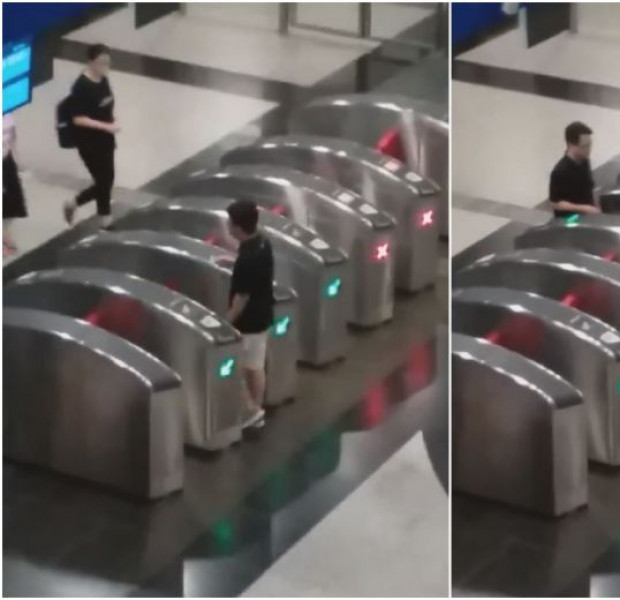 Man seen tapping in and out of MRT gantries was part of SimplyGo trial; Nets gets LTA warning