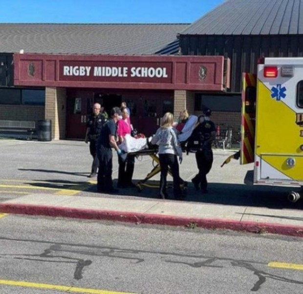 Girl detained after 3 injured in US school shooting