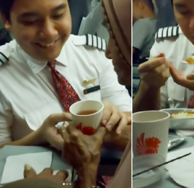This Made My Day: Flight attendant feeds elderly passenger, even helps her wipe her mouth