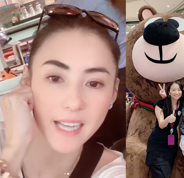 Cecilia Cheung is on holiday in Singapore, did you spot her at these places?