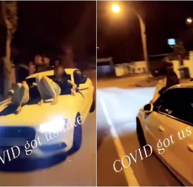 Cruising for a bruising: 2 women take night ride on Audi's bonnet