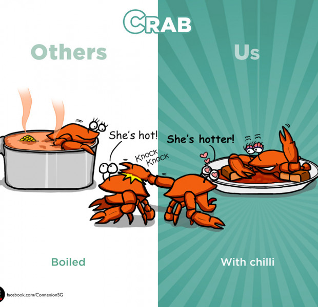 Adorable graphics highlight uniquely Singaporean ways of eating common foods