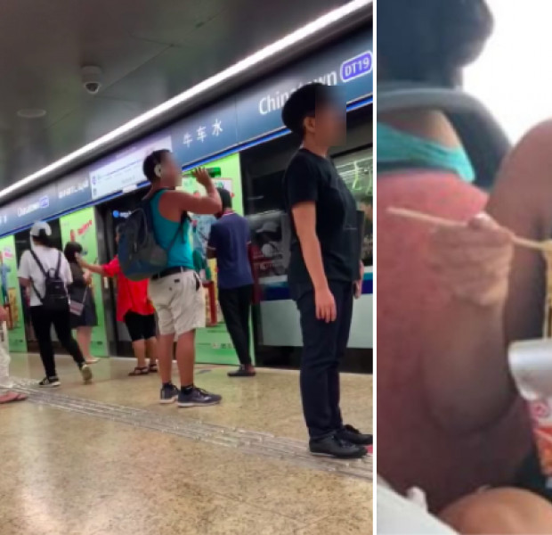 Online posts shaming foreigners for eating on public transport divide Singapore netizens
