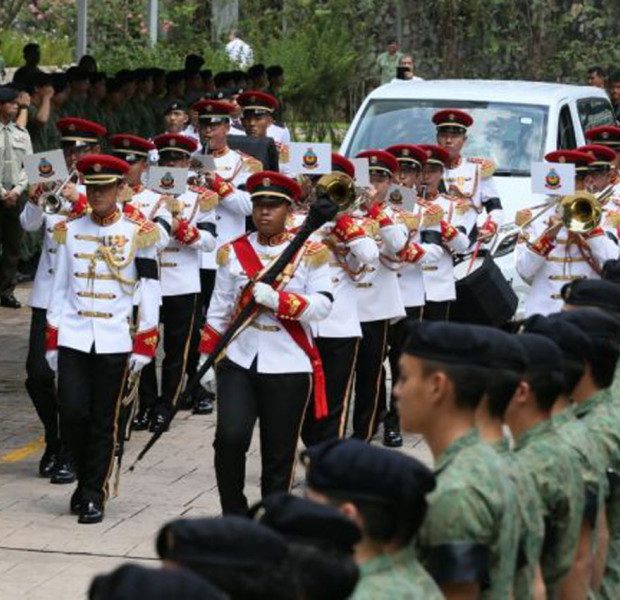 Friends, family and fellow servicemen see off 3SG Gavin Chan at his military funeral