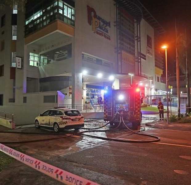 80 people evacuated after fire at beauty salon in Punggol Plaza