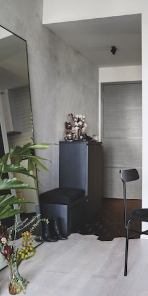 Creative couple's sleek and stylish 2-plus-1-bedroom condominium