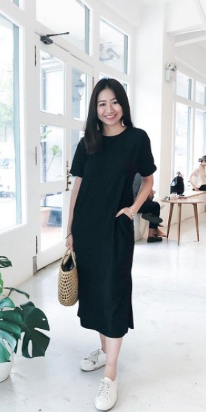This local brand has the most comfortable black T-shirt dress you could buy and wear