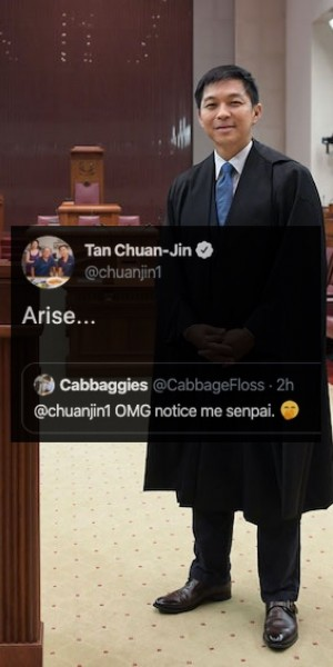 Newly ordained 'Tweeter of Parliament' Tan Chuan-Jin gains stans in an entertaining night
