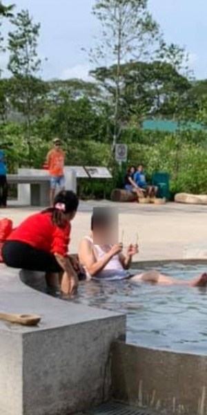 Uncle in hot water after taking a body soak in Sembawang Hot Spring Park