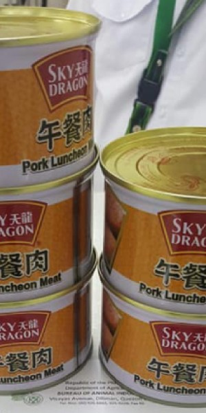Canned luncheon meat seized in Philippines contains swine flu virus