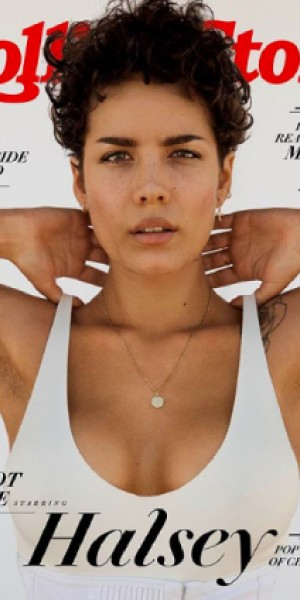 Celebrities laud Halsey's unedited armpit stubble