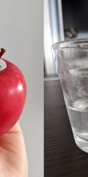 I try an easy hack to remove wax from an apple and I'm disgusted by how cloudy the water I use becomes