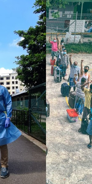'I want to spread positivity': Meet the SAF officer who volunteered to document migrant workers' fight against Covid-19