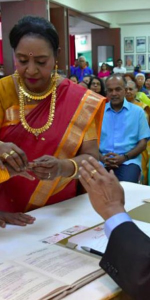 'She is my god': Childhood friends finally tie the knot in their 70s