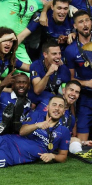 Hazard scores twice as Chelsea thrash Arsenal 4-1 to win Europa League
