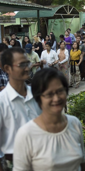 Voters hoping for new chapter in Myanmar's history