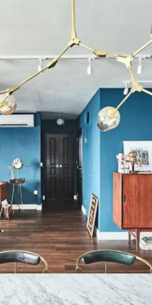 House tour: Eclectic-style turquoise-hued 4-room BTO in Bukit Batok