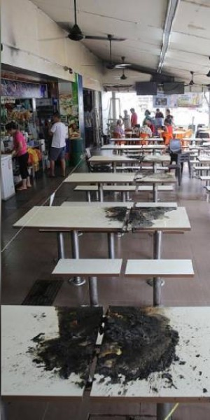 Bendemeer coffee shop tables set alight; man, 72, arrested