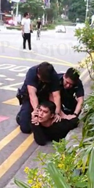 Aliff Aziz resists arrest, puts up violent struggle after drunken argument at Orchard Road