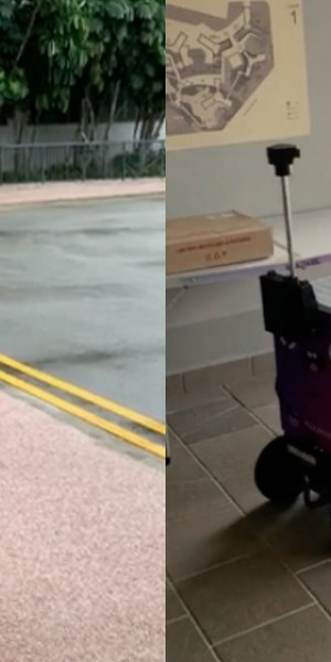 Adorable robots are making food deliveries for free at Nanyang Technological University