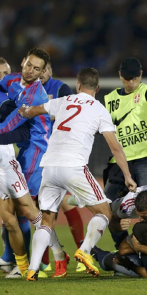 Football: Belgrade disgrace