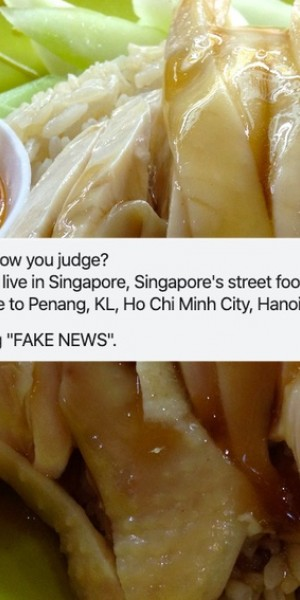 Online food fight ensues over article about Singapore having the best street food in the world
