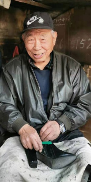 Chinese cobbler going strong at 92