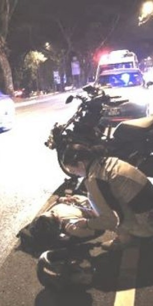 Motorcyclist taken to hospital after hitting a deer on Upper Thomson Road