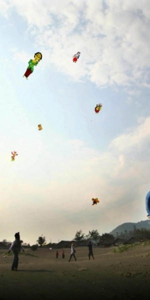 Indonesian teenager carried away by kite, hospitalised after fall