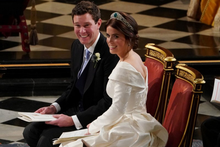 Britain S Princess Eugenie Shows Off Scar In Wedding Dress To Raise Awareness For Scoliosis World News Asiaone